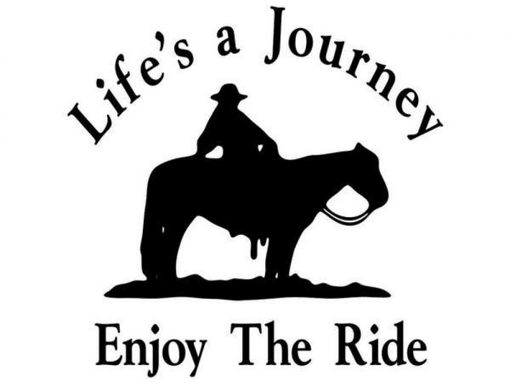 Horse Decal Life S A Journey Enjoy The Ride Cowgirls Loft