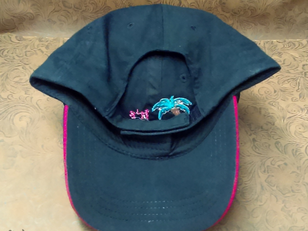 Black embroidered bottom baseball cap