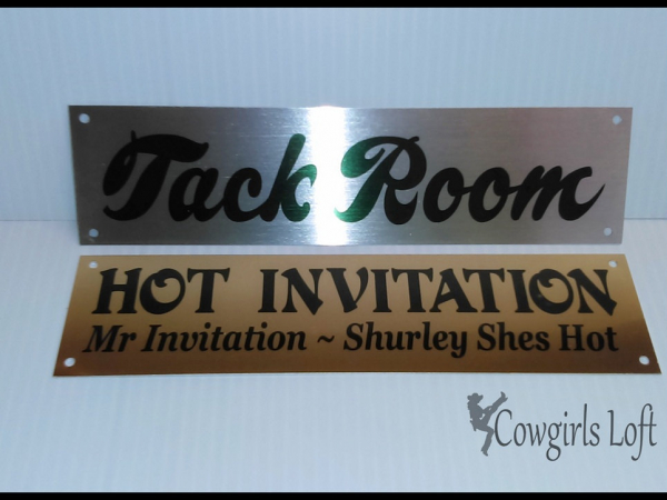 Silver and gold aluminum signs