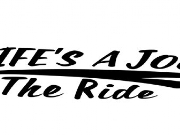 Horse Trailer Stripe Life's A Journey Enjoy The Ride Vinyl Decal striping with R