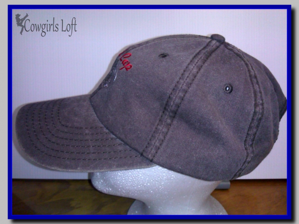 Embroidered Brown Cap BULL CAP w Bull Head side