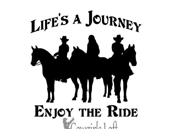 Group of Riders ' Lifes A Journey, Enjoy The Ride ' Vinyl Decal