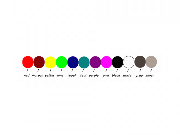 Decal color options
