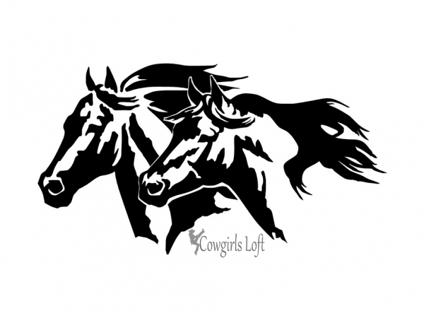Horse Heads Vinyl Decal