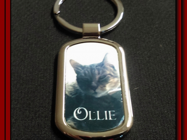 Photo Keychain with Keyring
