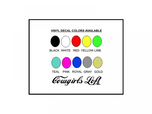 Vinyl Decal color options