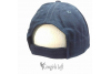 Embroidered Navy Blue Cap WHERE'S THE BEACH w Polar Bear back view