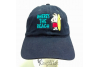 Embroidered Navy Blue Cap WHERE'S THE BEACH w Polar Bear close view