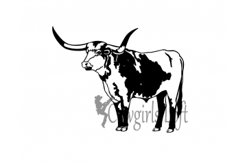 Longhorn cattle - steer decal