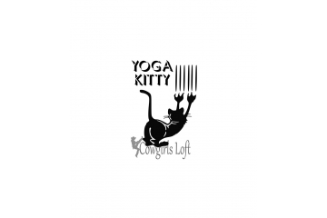 Yoga Kitty cat decal