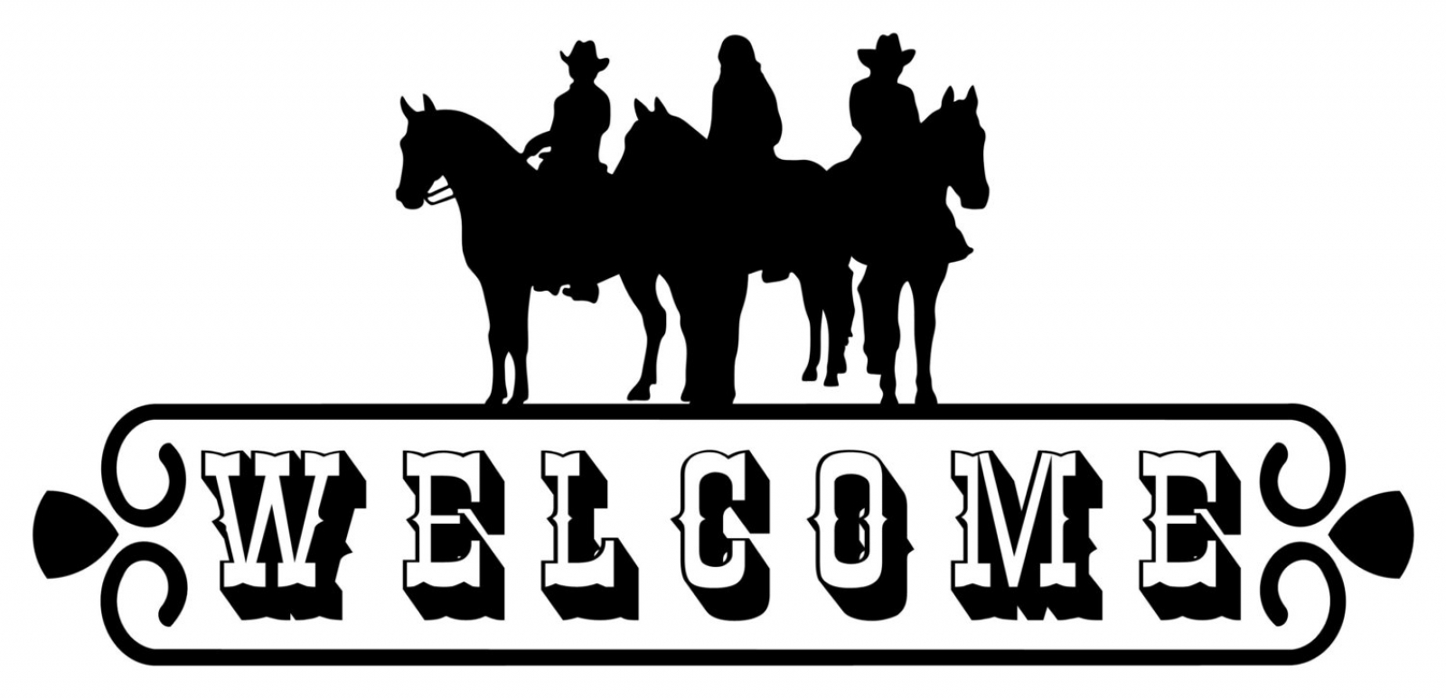 Welcome Sign Door Horse Trailer Vinyl Decal Mirror Glass