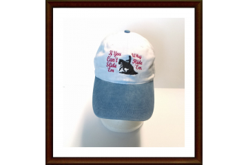 Embroidered REINING HORSE CAP hat  If You Can't Slide 'Em Why Ride 'Em