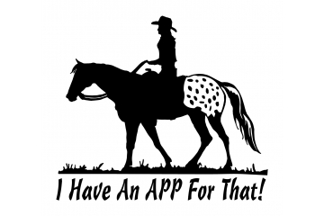 Appaloosa Horse Decal - I have an App for that